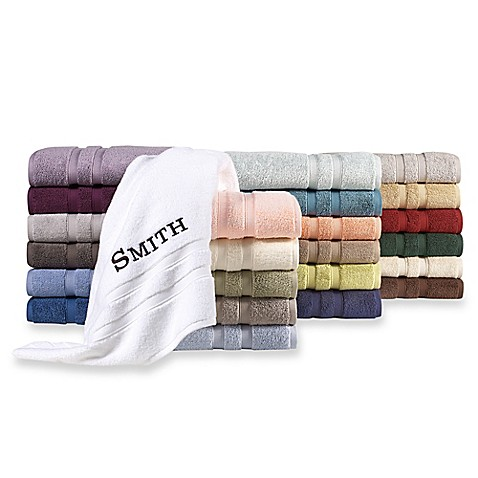 image of Wamsutta® Personalized Ultra Soft MICRO COTTON Bath Towel Collection