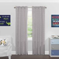 Solar Shield® North Star 84-Inch Rod Pocket Room Darkening Window Curtain Panel in Light Grey