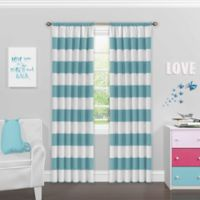 SolarShield® Bartlett 63-Inch Rod Pocket Room Darkening Window Curtain Panel in Teal