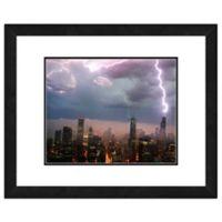 Chicago Skyline Storm 22-Inch x 26-Inch Framed Wall Art