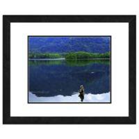 Fly Fisherman 18-Inch x 22-Inch Framed Wall Art