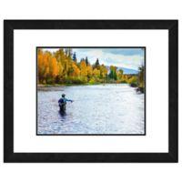 Fly Fisherman Stream 18-Inch x 22-Inch Framed Wall Art