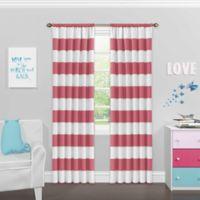 SolarShield® Bartlett 63-Inch Rod Pocket Room Darkening Window Curtain Panel in Peony