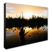 Duck Hunter 20-Inch x 24-Inch Photo Canvas Wall Art
