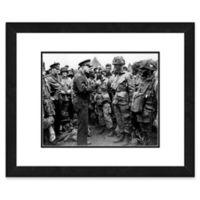 Dwight Eisenhower 18-Inch x 22-Inch Framed Wall Art