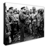 Dwight Eisenhower 20-Inch x 24-Inch Photo Canvas Wall Art