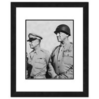 Eisenhower and Patton 18-Inch x 22-Inch Framed Wall Art