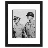 Eisenhower and Patton 22-Inch x 26-Inch Framed Wall Art