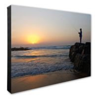 Fisherman 16-Inch x 20-Inch Canvas Wall Art