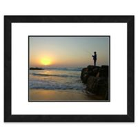 Fisherman 18-Inch x 22-Inch Framed Wall Art