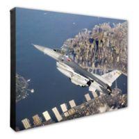 F-16 Flying Falcon 16-Inch x 20-Inch Photo Canvas Wall Art