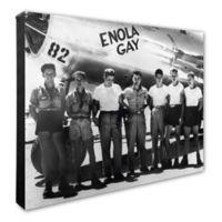 Enola Gay Crew 20-Inch x 24-Inch Photo Canvas Wall Art