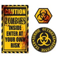 WallPops!® Caution Zombies Wall Decals