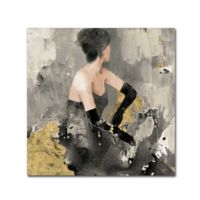 Trademark Fine Art Beautiful Gaze 18-Inch Square Canvas Wall Art