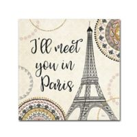 Trademark Fine Art Veronique Charron 'Romance in Paris II' 14-Inch Square Canvas Wall Art