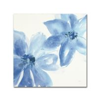 Trademark Fine Art Cobalt Clematis II 24-Inch Square Canvas Wall Art
