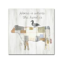 Trademark Fine Art Farm Family VI 18-Inch Square Canvas Wall Art