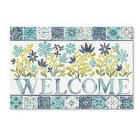 Laura Marshall 'Garden Getaway Welcome' 15-Inch x 20-Inch Canvas Wall Art