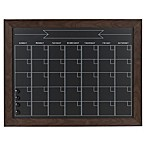 Kate and Laurel Beatrice Framed Chalkboard Calendar in Brown