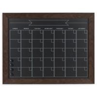 Kate and Laurel Beatrice Framed Chalkboard Calendar in Brown