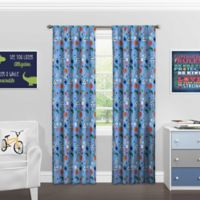 Solar Shield® Sports 84-Inch Rod Pocket Room Darkening Window Curtain Panel in Denim