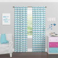Solar Shield® Kids Kady 63-Inch Rod Pocket Room Darkening Window Curtain Panel in Pool Blue