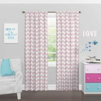 SolarShield® Kady 84-Inch Rod Pocket Room Darkening Window Curtain Panel in Magnolia