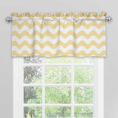 Superb SolarShield® Kady Room Darkening Window Valance In Yellow