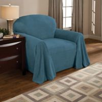 Coral Polyester Fleece Chair Throw Cover in Teal