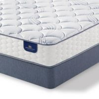 Serta® Perfect Sleeper® Hayfield Plush Low Profile Full Mattress Set