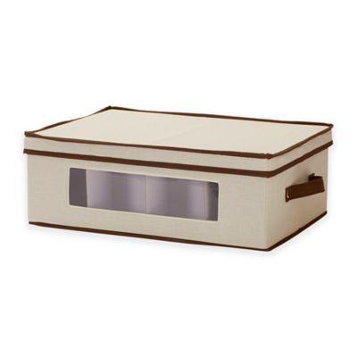 Household Essentials® Mug China Storage Box In Cream/Brown