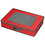 Household Essentials® Holiday Tabletop Storage Box in Red/Green