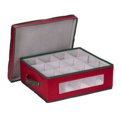 Superbe Household Essentials® Holiday China Cup Storage Box In Red/Green