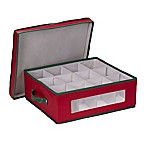 Household Essentials® Holiday China Cup Storage Box in Red/Green