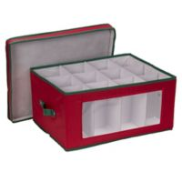 Household Essentials® Holiday Balloon Wine Glass Storage Box in Red/Green