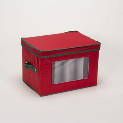 Household Essentials® Holiday Flute Stemware Storage Box in Red/Green & Buy Stemware Storage from Bed Bath u0026 Beyond