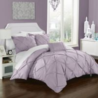 Chic Home Weber Queen Duvet Cover Set in Lavender