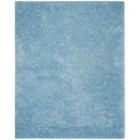 Safavieh Supreme 8-Foot x 10-Foot Shag Area Rug in Light Blue