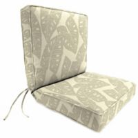 Print Boxed Edge Dining Chair Cushion in Sunbrella® Radiant Silver