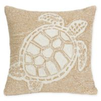 Liora Manne Turtle Square Indoor/Outdoor Throw Pillow in Natural