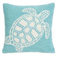 Liora Manne Turtle Square Indoor/Outdoor Throw Pillow in Blue