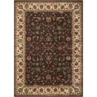 Nourison Persian Arts Kashan 5-Foot 3-Inch x 7-Foot 5-Inch Rectangle Rug in Chocolate