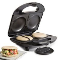 Holstein® Housewares Arepa & Empanada Maker in Black/Stainless Steel