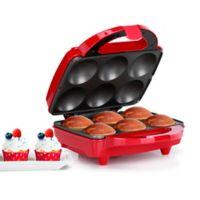 Holstein® Housewares 6-Piece Cupcake Maker in Red