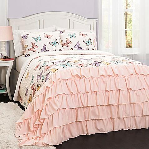 Lush Décor Flutter Butterfly Quilt Set - Bed Bath & Beyond