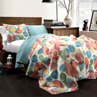 Lush Décor Layla 3-Piece Reversible Full/Queen Quilt Set in Orange/Blue