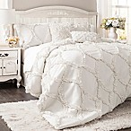 Lush Décor Avon 3-Piece King Comforter Set in White