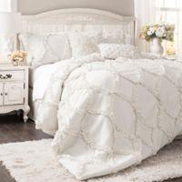 Lush Décor Avon 3-Piece Queen Comforter Set in White