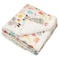 Lush Décor Pixie Fox Reversible Blanket in Grey