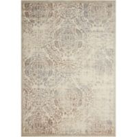 Nourison Graphic Illusion GIL09 5-Foot 3-Inch x 7-Foot 5-Inch Area Rug in Ivory